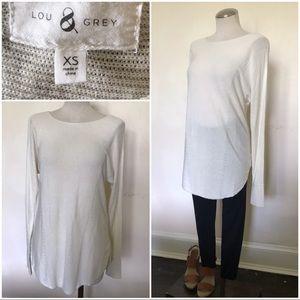 Oversized cream color lightweight spring sweater
